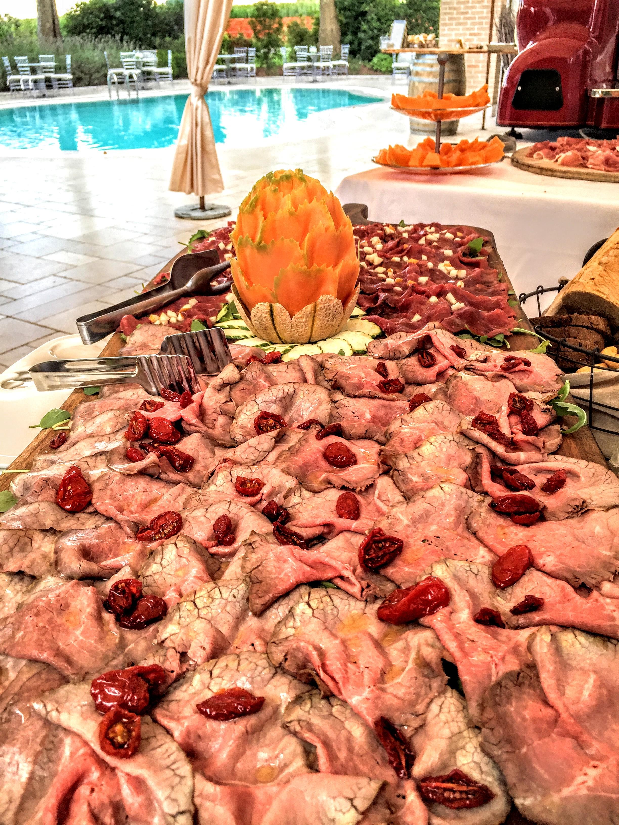 ristorante con piscina per matrimoni e cerimonie