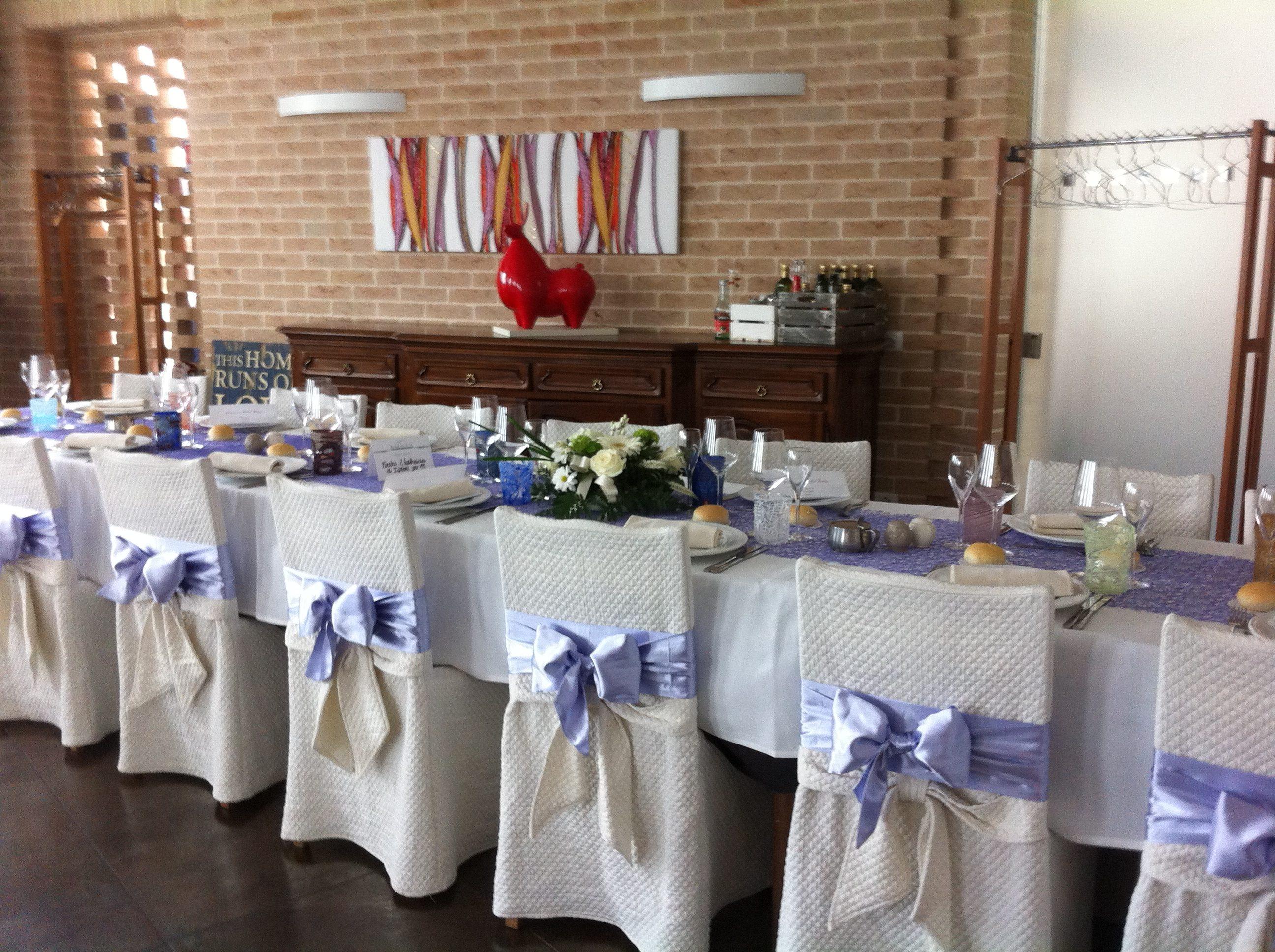 tavola per pranzo ristorante per comunioni