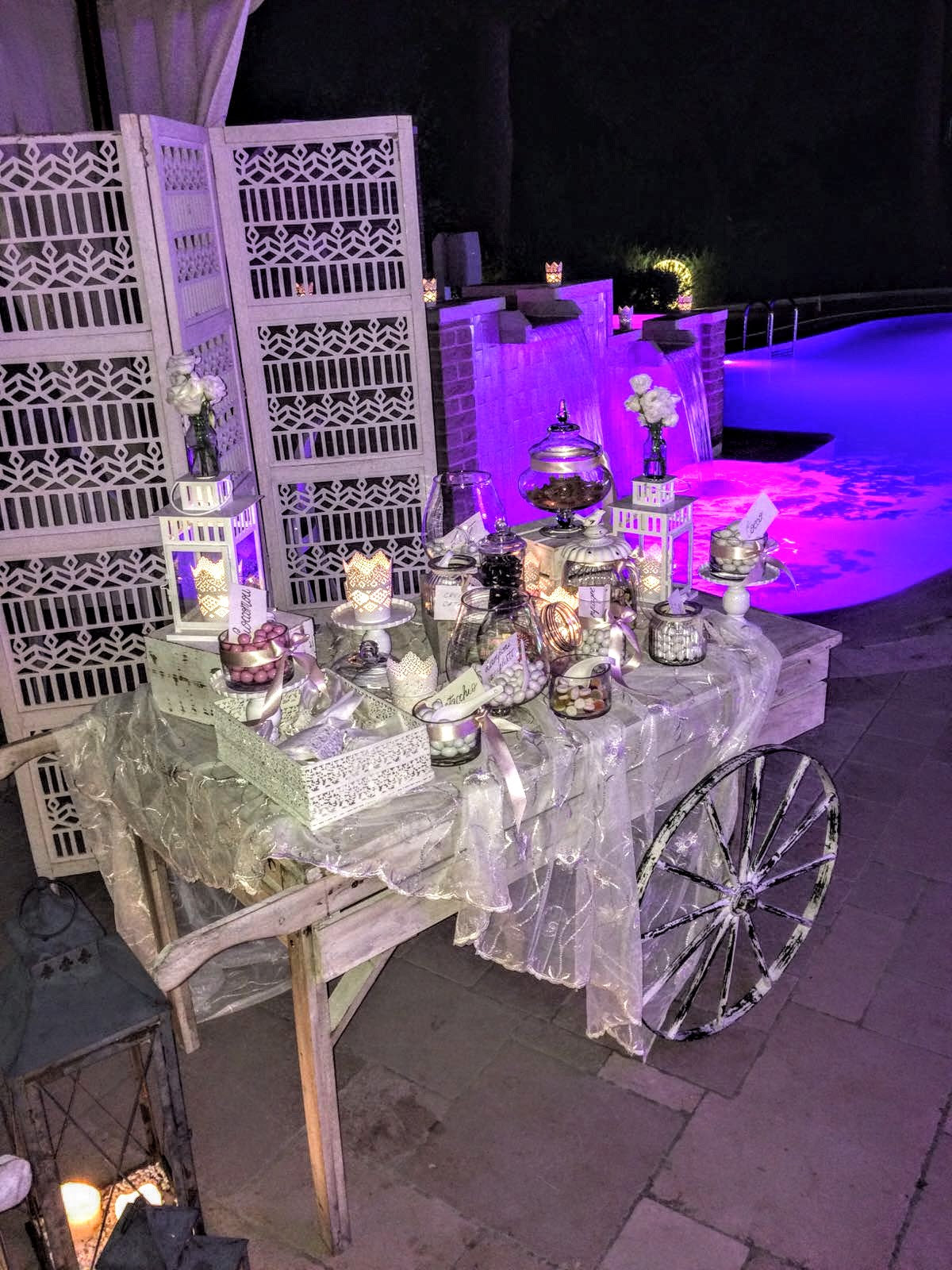 ristorante location carrello confetti per matrimoni e cerimonie