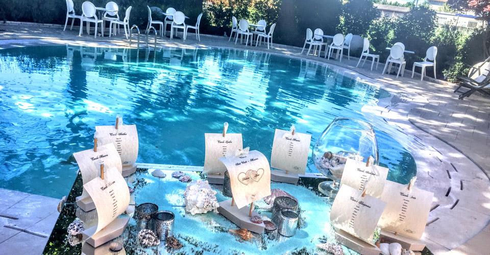ristorante per matrimoni e cerimonie con piscina estiva