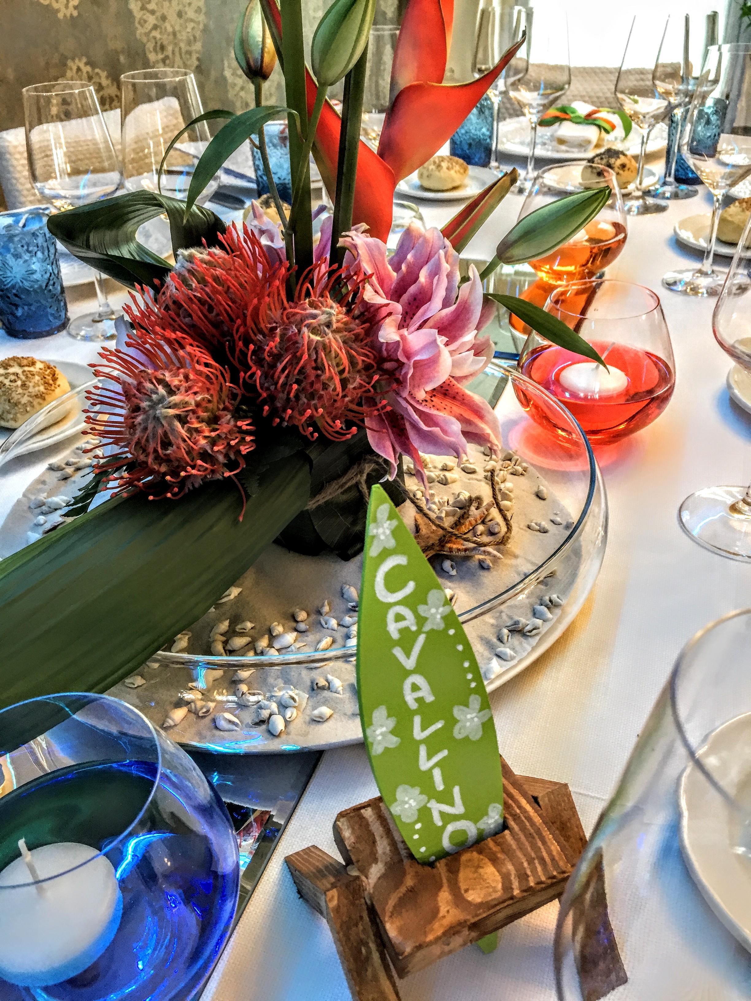 allestimento pranzo di matrimonio spiagge caraibiche