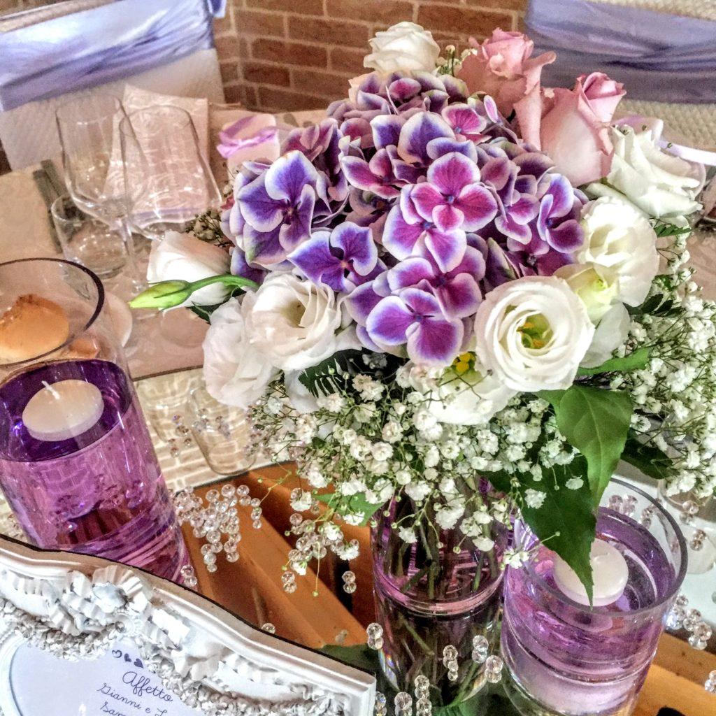 fiori da tavolo per matrimonio