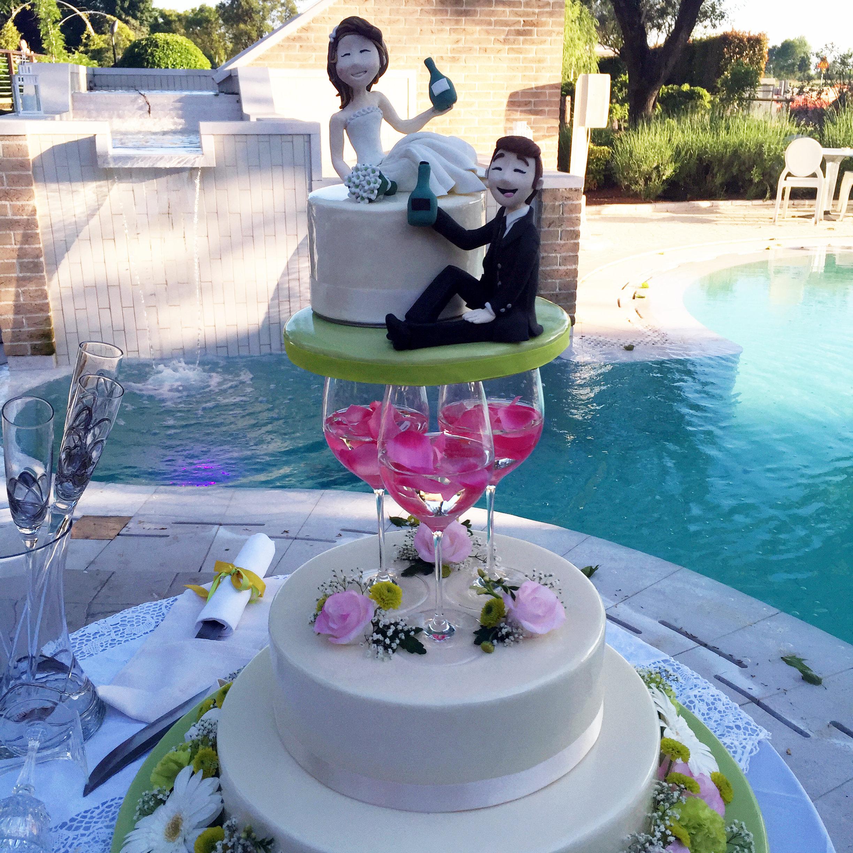 Torte Matrimonio Girasoli : La torta nuziale bianca a piani alla frutta al cioccolato