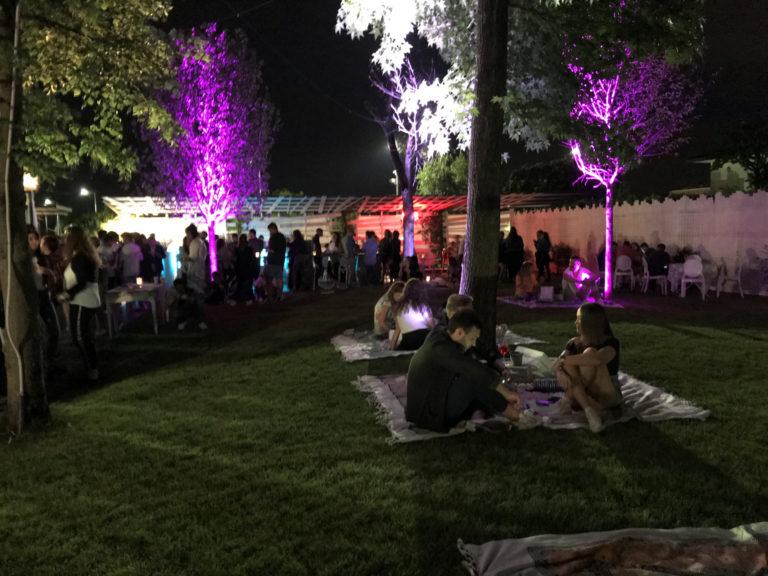 Alla sera nel Parco della Baracca Storica Hostaria
